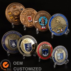 Настроенные на заводе Металлообработка 3D логотип мягкой эмали задача монета Чили Германия военной полиции Award сувенирных монет в подарок для продвижения (CO01)