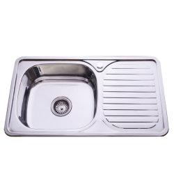 304 وحيد قصد [ستينلسّ ستيل] حوض بالوعة مع [درينبوأرد] مغسل [كيتشن سنك] لأنّ خزانة