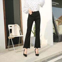 カスタム高品質の細い伸張の高いウエストの女の子のデニムのズボン