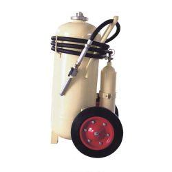 Extintor de incendios con ruedas de espuma con cartucho de gas externo
