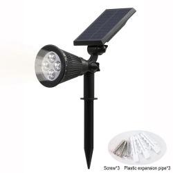 Angeschaltener LED-Lampen-justierbarer Solarscheinwerfer InSolarboden IP65 imprägniert Landschaftswand-Licht-im Freienbeleuchtung