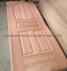 مصنع صيني سعر لطيف للخشب الطبيعي يواجه الباب جلد الباب المصبوب في اللوحة HDF