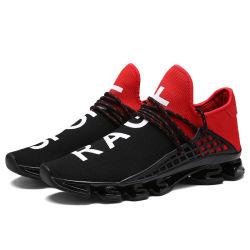 Greatshoeエアクッションのスポーツを実行する最もよいOEM&ODMのカスタムロゴのブランドの人のスニーカーの靴は網の上部の偶然の歩く人の靴に蹄鉄を打つ