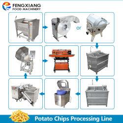 Waschender Schalen-Ausschnitt der automatischen Kartoffel-Qx-3000, der verpackenaufbereitende Zeile brät