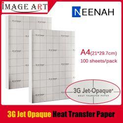3G Jet opaca de transferência de calor para a Dark T Shirt Imprimir tamanho A4 de 100 folhas