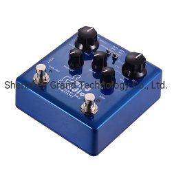 固体スタジオIRパワーアンプのシミュレーターのギターのマルチ効果のペダルの二重踏みスイッチの組み込み8のキャビネット8のマイクロフォンの本当のバイパス