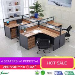 Китайский современная деревянная мебель из алюминия стены модульного комнате стекло офисной рабочей станции раздел с помощью выдвижного ящика шкафа (AP18207)