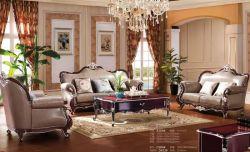 Muebles European-Style clásico Sofá de cuero grueso elegante sofá para Salón