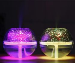 Humidificador USB de grande capacidade de projecção de luz Noite de Cristal humidificador