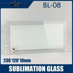 Em branco vidro Sublimação Photo Frame 230*120*10mm 20 PCS/caixa