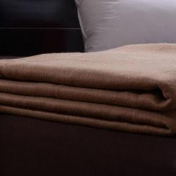 Роскошь цвета шерсти одеяло для использования