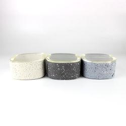Mini-cimento suporte para velas com tampa para decoração
