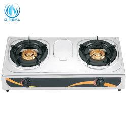 Электроприбор поверхность стола нержавеющая сталь две горелки газовая плита (DS-GSS201)