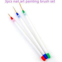 3pcs/tailles gel acrylique Skinny Strip dessin Nail Art jeu de plumes de la Brosse à ongles Sculpture Peinture