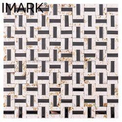 Giallo all'ingrosso Atlantide e mosaico del marmo dell'acciaio inossidabile per le mattonelle della parete