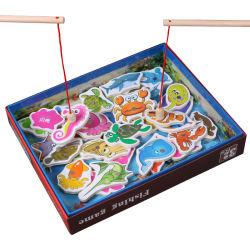 Capretti che pescano i giocattoli educativi di pesca dei pesci dei giocattoli 32PCS del giocattolo del magnete dei bambini stabiliti magnetici di legno del gioco per il ragazzo
