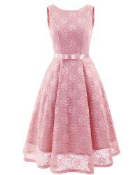De dames om Afgedrukte Kraag kleden de Hete Kleding Van uitstekende kwaliteit van de Verkoop voor Partij Pridemaid