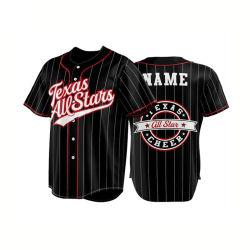 La sublimation de baseball de haute qualité jersey salle de gym de gros de vêtements de chemises de Baseball personnalisé