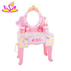 Spitzenverkaufs-Rosa-hölzerner Frisierkommode-Spiegel für Mädchen W08h121