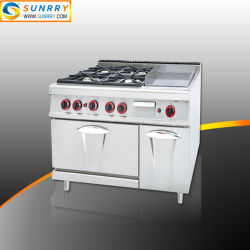 4 quemadores estufa de gas con horno de gas Gas Comal con horno de panadería para
