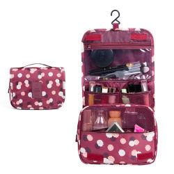 Travando dobrável simples Kit de produtos de higiene pessoal de nylon de viagem saco cosméticos