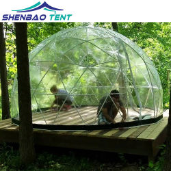 4m Clear petit jardin de toit tente igloo Dome du restaurant