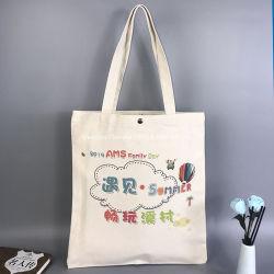 Toile de coton de promotion d'impression personnalisé sac fourre-tout sac avec logos dame