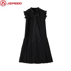 Les femmes au-dessus du genou une ligne élégante robe sans manches occasionnel bureau