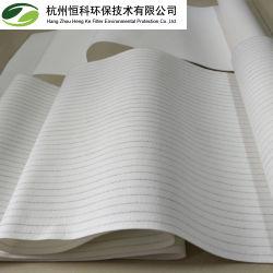 Filtro de paño antiestático de poliéster con membrana de PTFE