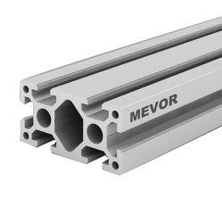 الألومنيوم متعدد الوظائف مخصص متعدد الوظائف للإطار الصناعي الألومنيوم الصندوقي 4080 الشكل الفضي ألومنيوم مطلي بطبقة من الأكسيد ملف التعريف