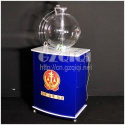 Máquina de loteria pela mistura de ar para desenhar 49 bolas de 50 esferas.