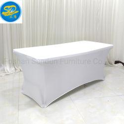 6FT monté spandex polyester rectangulaire Lycra chiffon IBM Table