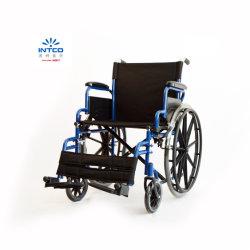 إمكانية التنقل باستخدام كرسي متحرك يدوي قابل للطي من الفولاذ مع إمكانية عرض المقعد مقاس 20 بوصة