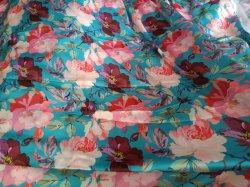 Guangzhou Fleur d'impression numérique textile de gros de tissu satin
