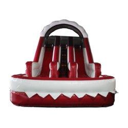 Красный слайд-парк развлечений надувные изделия надувные слайд