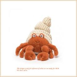 Cangrejo de peluche juguete de peluche con sombrero la ornamentación de inicio