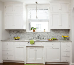 シェーカー様式の木の台所虚栄心の浴室の流しのキャビネット