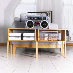 2개의 작은 어셈블리 자연스런 솔리드 목재 침실 가구 대나무 가정용 침대 테이블