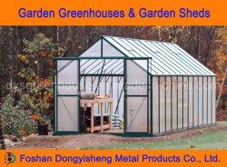 2019 Nuevo diseño de efecto invernadero de jardín abarcan varias láminas de policarbonato de 6 mm de aluminio de la Casa Verde Casa jardín de verduras (RDGS0818-6mm)