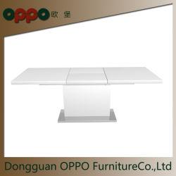 新しいデザインスマートなMDFの拡張可能で高い光沢のある台所Dinningは家具を台に置く