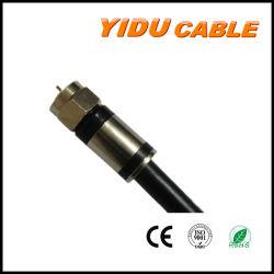 Cabo coaxial RG CATV CCA cobre CCS6 RG58 RG59 RG11 do sinal de TV com cabo coaxial RF Conector de compressão