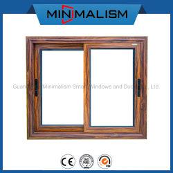 Profil en aluminium de la série 70 couleur du bois pour la vitre coulissante