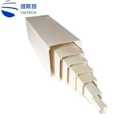 Het In het groot Elektrische Vierkant dat van de fabriek Trunking van de Kabel van pvc van de Buis van de Bedrading verdraagt
