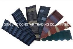 Matériaux de construction de toiture bon marché tuile de toiture en métal enduit en pierre à vendre