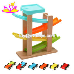 La meilleure conception de l'éducation rampe voiture jouet en bois pour les enfants W04e098