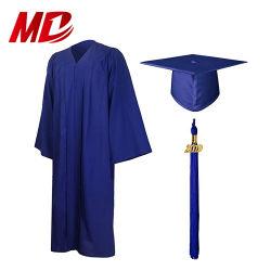 Матовая Королевский синий школы градация платье с