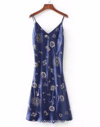 Nuevo diseño personalizado de señoras la moda vestidos noche de verano mujeres sexy falda partido hermoso vestido de tirantes