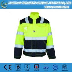 Il poli Workwear di forza del cotone ciao copre l'alto rivestimento dei lavori di costruzione di visibilità