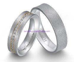 Definição do canal Zircon 925 Sterling Bodas de Prata Anel de jóias