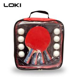 Strumentazione di sport personalizzata migliore professionista della racchetta di ping-pong del giocatore di marchio 4 di alta qualità di prezzi di Loki